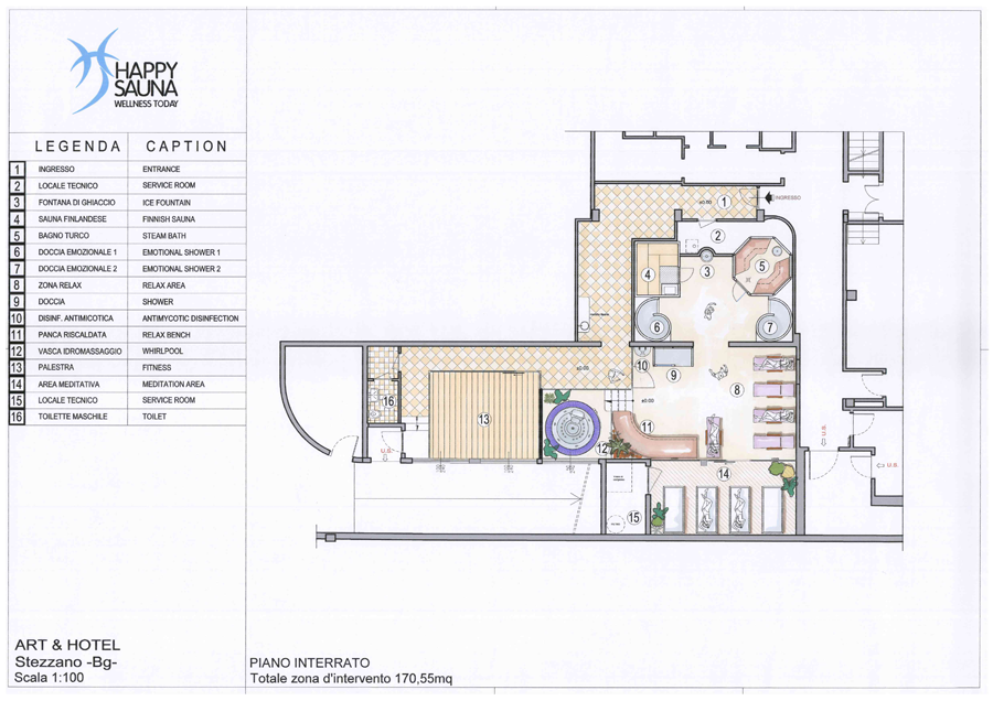 Wellness Center Stezzano Bergamo - Map